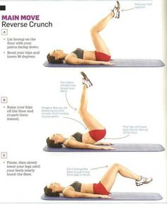 Get-Your-Body-Back Workout: Reverse Crunch sets of reps) Ab Workout At Home, At Home Workouts, Fitness Herausforderungen, Reverse Crunches, Workout Bauch, Muscular, Plein Air, Easy Workouts, Workout Challenge