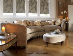 Astoria large curved sofa by Laura Ashley