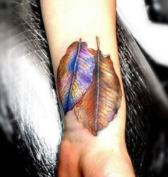 These beautifully colored changing leaves by Tatiana Sereda. #inked #autumn #leaves #changing #color #fall