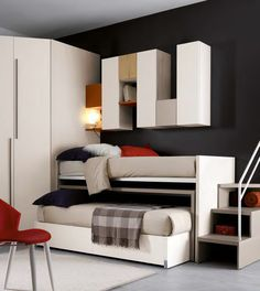 Clicca per chiudere Kids Bedroom Designs, Home Room Design, Kids Room Design, Kids Room Furniture, Bedroom Furniture, Bunk Bed Rooms, Small Room Bedroom, House Rooms, Modern House Design