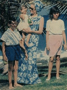 Princess Grace in Jamaica with her children in 1967
