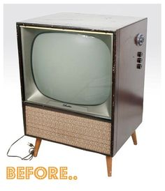 How to: Create a Home Bar from a Vintage Television (apparently pretty dangerous)