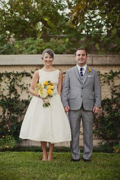 This is everything I want for our wedding look. The dress the suit the flowers everything