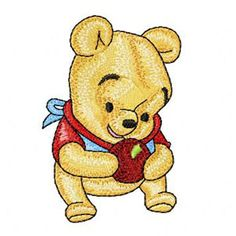 Baby Pooh 3 machine embroidery design
