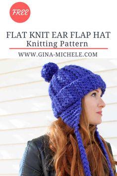 d5cbabc14c9 Ear Flap Hat  knitting pattern