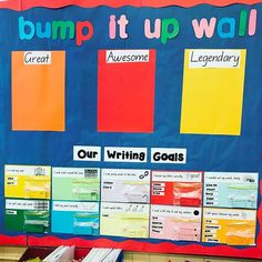 I just started using my new bump it up wall. So far so good. The kids love their new writing goals.