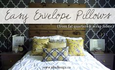 easy envelope pillows at www.akadesign.ca