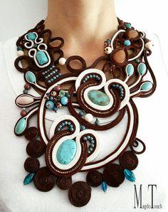 Check out this item in my Etsy shop https://www.etsy.com/listing/287722543/art-nouveau-statement-necklace-soutache