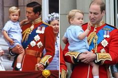 Mirror image: William and Charles in 1984, and William with his son George today