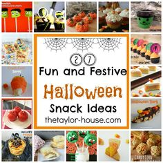 27 Fun and Festive Halloween Snack Ideas