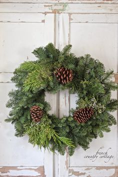 Simple Christmas Wreaths - FRENCH COUNTRY COTTAGE