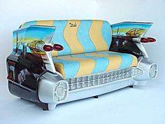Classic Car made into a sofa