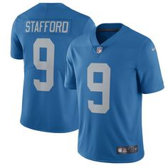 matthew stafford detroit lions nike 2017 throwback vapor untouchable limited player jersey blue