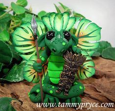 Polymer Clay Tropical Island Butterfly Dragon By: Tammy Pryce $38.50