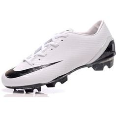http://www.asneakers4u.com/ Mens Soccer Cleats Nike Mercurial SL Shoes Black WhiteOUT OF STOCK