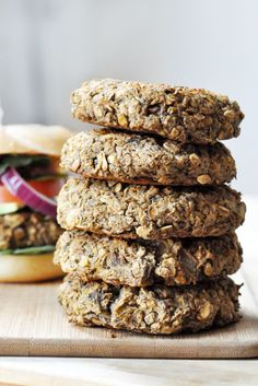 Lentil-Mushroom Burgers, Vegan + Gluten-Free - The Colorful Kitchen