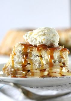 UPISDE DOWN CHEESECAKE APPLE PIE!  Upside Down Cheesecake Apple Pie!  This really is the most amazing dessert ever! Cheesecake and apples create the most amazing filling wrapped in a flaky crust!
