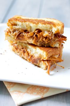 BBQ Pulled Pork Grilled Cheese! Can't wait to give this a try, sounds amazing!