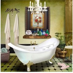 """""""Bath Time...Must Be Saturday..."""" by angiem on Polyvore"""