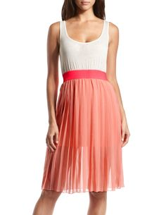 Charlotte Russe | Pleated Knit Bust 2-Fer Dress | Come in and try it on!