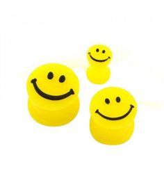Silicone Yellow Smiley Face Flesh Plug #plugs #plug #fleshplug #earplug #tunnel #tunnels #fleshtunnel #eartunnel #bodyjewelry #bodyjewellery #plugsnotdrugs #pluglife #pluglove #plugsofinstagram #bodymod #bodymodification #stretches #stretchedears #earstretches #earstretching #piercing #fashion #girlswithplugs
