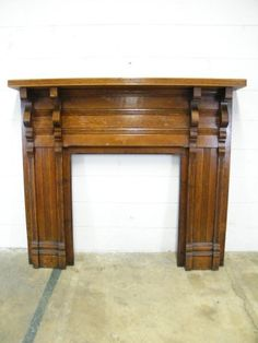 Antique oak fireplace mantel. | Antique Fireplace Mantels ...