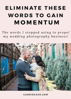 Learn how I gained momentum in my wedding photography business simply by eliminating certain words and phrases from my vocabulary.  Tags: Montreal wedding photographer, wedding photography, how to become a wedding photographer, how to start a wedding photography business, photography marketing, side-hustle, earn extra income, retire early, part-time wedding photography business, earn money with wedding photography