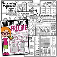 "Free multiplication worksheets from The Moffatt Girls. These math worksheets for grades will ""introduce, teach, reinforce and help master basic multiplication facts! Math Resources, Math Activities, Division Activities, Fourth Grade Math, Math Multiplication, Calculus, Algebra, Homeschool Math, Homeschooling"