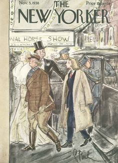 The New Yorker - Saturday, November 5, 1938 - Issue # 716 - Vol. 14 - N° 38 - Cover by : Perry Barlow