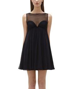 MJill Jill Stuart Black Sweetheart Silk Sleeveless Dress by Jill Jill Stuart #zulilyfinds
