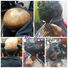 Gifted hands done a miraculous job. This helps others who in hiding because of their hair issue. Sew In Hairstyles, Short Black Hairstyles, Short Hair Cuts, Short Hair Styles, Short Pixie, Quick Weave Styles, Comment Planter, Hair Issues, Black Hair Care
