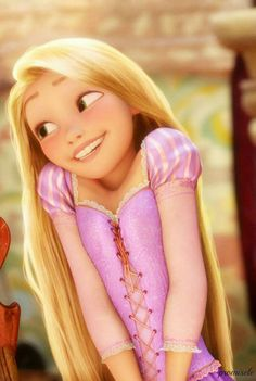 Tangled. I love her hair it is so long, right. It is also blonde and shinny. I love when it lights up.