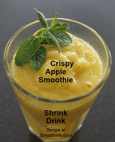 Crispy Apple Smoothie Shrink Drink Recipe and info about Dr Caroline Apovian's approach to weight loss...