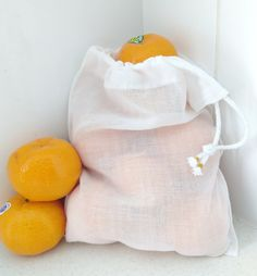 TotesGreen small reusable cotton produce bag. #bringyourownbag #saynotoplastic #banthebag #zerowaste