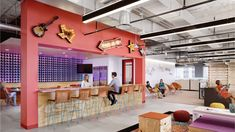 "Independent media agency Kelly Scott Madison reached out to architectural firm HED to design their new office in Austin, Texas. ""Focused on their core Open Office, Cool Office, Budapest, Core Beliefs, Workplace Design, Cool Cafe, Industrial Office, Cool Apartments, Cafe Restaurant"