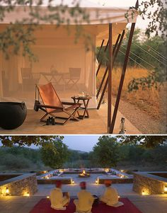 Aman-i-Khás resort a camp in  wildlife sanctuary in Rajasthan, India.   (House and Home)
