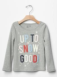 The gap collection of toddler girls tees has a variety of t-shirts and graphic tees for toddler girl. Christmas Jumpers, Christmas Shirts, Ugly Christmas Sweater, Christmas Slogans, Christmas Typography, Christmas Captions, Christmas T Shirt Design, Pun Shirts, Toddler Girl Outfits