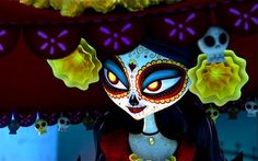 Explore the mythology of the Book of Life see the trailer and featurette. Channing Tatum, Zoë Saldana, and Diego Luna. By Guillermo Del Toro. Age Of Mythology, Book Of Life Movie, Life Trailer, Movie Trailers, Mexico Day Of The Dead, Life Review, Halloween This Year, Halloween 2014, Halloween Costumes
