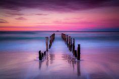 Saint Claire Beach, Dunedin, New Zealand  sunrise