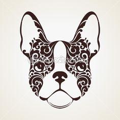 Ornamental decorative dog — Stock Illustration #63493063