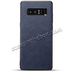 6c7ceb6817e Leather Ultra Slim Hard Back Case Cover for Samsung Galaxy Note 8 - Navy  Blue