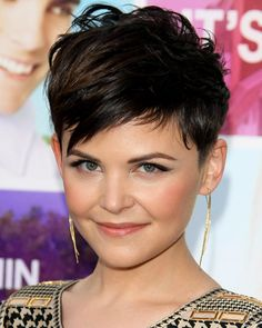 GINNIFER GOODWIN'S STYLE: A closely shorn pixie that is longer and choppier on top and asymmetrically layered in front.