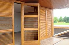 Backyard Patio Designs, Shutters, Tall Cabinet Storage, Outdoor Living, New Homes, Doors, Projects, House, Furniture