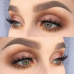 We love this pink smoky eye for a more modern take on a traditional wedding look.