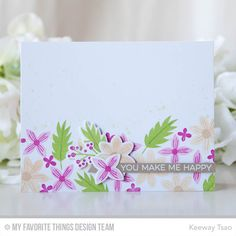 Stamps: More Rustic Wildflowers  Die-namics: More Rustic Wildflowers    Keeway Tsao  #mftstamps