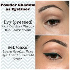 #4 in my eyeliner series - Powder Shadow.  The unsung hero of the liner world!
