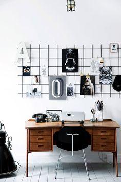 Wire organized wall