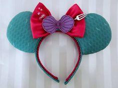Little Mermaid Inspired Mouse Ears Headband Custom by EarsComeTrue