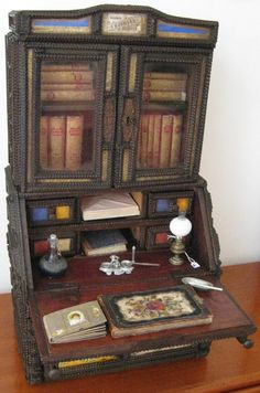 Miniature desk. France. Circa 1860. Pieternel Antique Toys