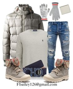 """""""Untitled #473"""" by fbailey126 ❤ liked on Polyvore featuring Moncler, Moncler Gamme Bleu, Polo Ralph Lauren, Balmain, Salvatore Ferragamo, Valextra, women's clothing, women's fashion, women and female"""